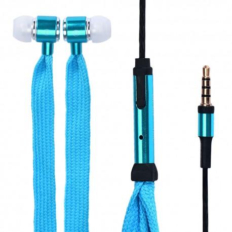 Sluchátka tkaničky modré