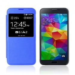 Flipové pouzdro S-view Samsung Galaxy S5 - modré