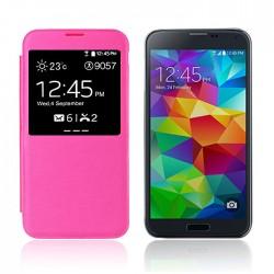 Flipové pouzdro S-view Samsung Galaxy S5 - růžové