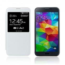 Flipové pouzdro S-view Samsung Galaxy S5 - bílé