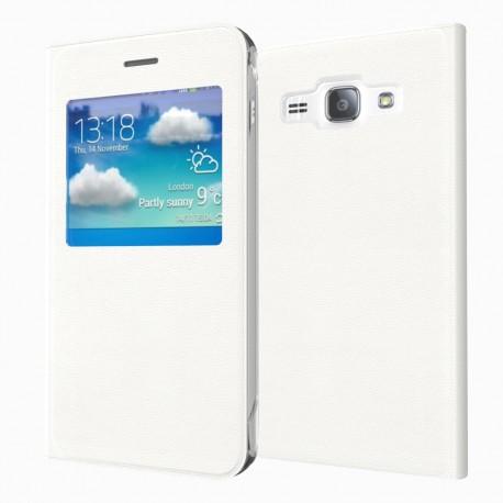 Flipové pouzdro S-view Samsung Galaxy J5 (2016) - bílé