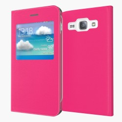 Flipové pouzdro S-view Samsung Galaxy J5 (2016) - růžové