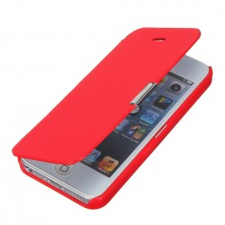 Flipové pouzdro Apple iPhone 5/5S/SE - červené