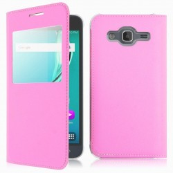 Flipové pouzdro S-view Samsung Galaxy J7 (2016) - růžové