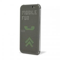 Pouzdro DOT VIEW HTC Desire 620 šedé