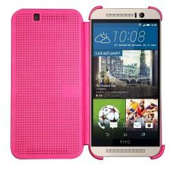 Pouzdro DOT VIEW HTC One M9 Plus růžové