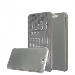 Pouzdro DOT VIEW HTC One A9 šedé