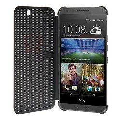 Pouzdro DOT VIEW HTC Desire 820 šedé