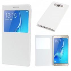 Flipové pouzdro S-view Samsung Galaxy S7 Edge - bílé