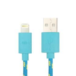 Nylonový odolný kabel Lightning modrý 1m
