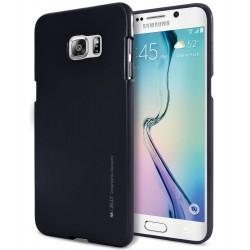 Pouzdro Mercury  i-Jelly Metal pro Samsung Galaxy S6 Edge - černé