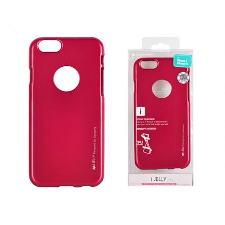 Pouzdro Mercury i-Jelly Metal pro Apple iPhone 7 Plus - růžové