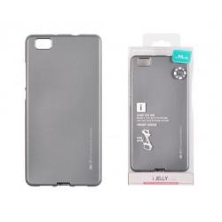 Pouzdro Mercury i-Jelly Metal pro Huawei P8 Lite - šedé