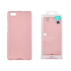 Pouzdro Mercury i-Jelly Metal pro Huawei P8 Lite - světle růžový