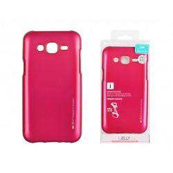 Pouzdro Mercury i-Jelly Metal pro Samsung Galaxy J5 (2016) - růžové