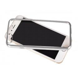Silikonový kryt pro Apple iPhone 4/4s - stříbrný