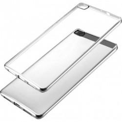 Silikonový kryt pro Huawei P8 lite - stříbrný