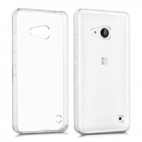 Silikonový kryt pro Microsoft Lumia 550 - průhledný