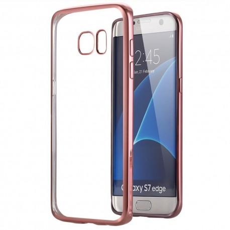 Silikonový kryt pro Samsung Galaxy S7 edge - růžový