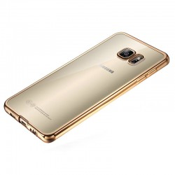 Silikonový kryt pro Samsung Galaxy S6 Edge - zlatý