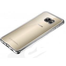 Silikonový kryt pro Samsung Galaxy S6 Edge - stříbrný