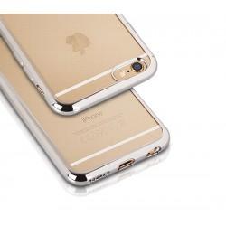 Silikonový kryt pro Samsung Galaxy S6 - stříbrný