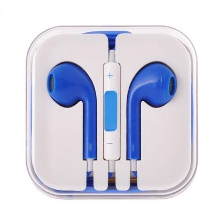 Sluchátka EarPods pro Apple iPhone/iPad-modrá