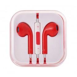 Sluchátka EarPods pro Apple iPhone/iPad-červená