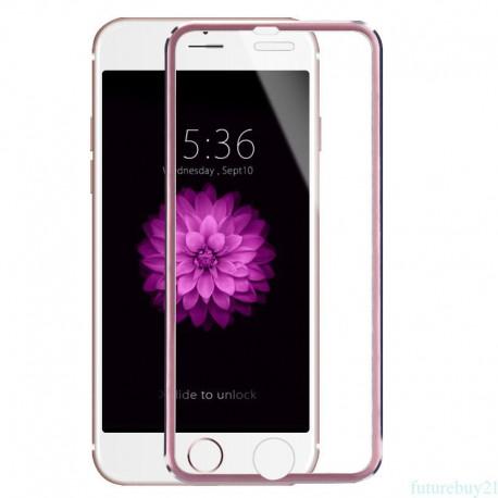 3D Tvrzené sklo pro Apple iPhone 6/6s Plus - růžové
