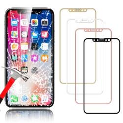 3D Tvrzené sklo pro Apple iPhone X - červené