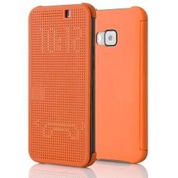 Pouzdro DOT VIEW HTC One M8 oranžové