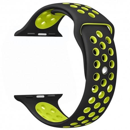 Sportovní řemínek na hodinky Apple Watch 38mm - modro/žlutý