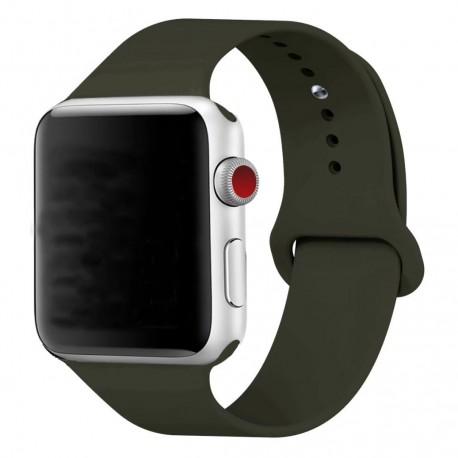 Silikonový pásek na hodinky Apple iWatch 38mm - černý
