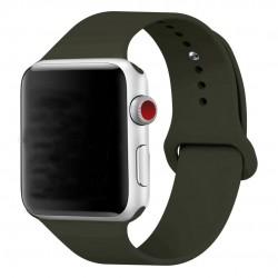 Silikonový pásek na hodinky Apple Watch 42mm - černý