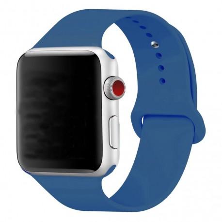Silikonový pásek na hodinky Apple Watch 38mm - modrý