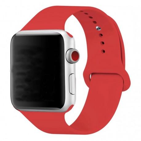 Silikonový pásek na hodinky Apple Watch 38mm - červený