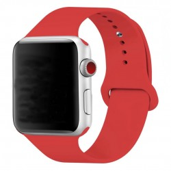 Silikonový pásek na hodinky Apple Watch 42mm - červený