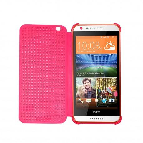 Pouzdro DOT VIEW HTC Desire 828 růžové