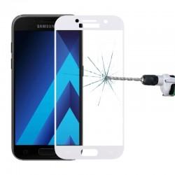 3D Tvrzené sklo pro Samsung Galaxy A3 (2017) - bílé